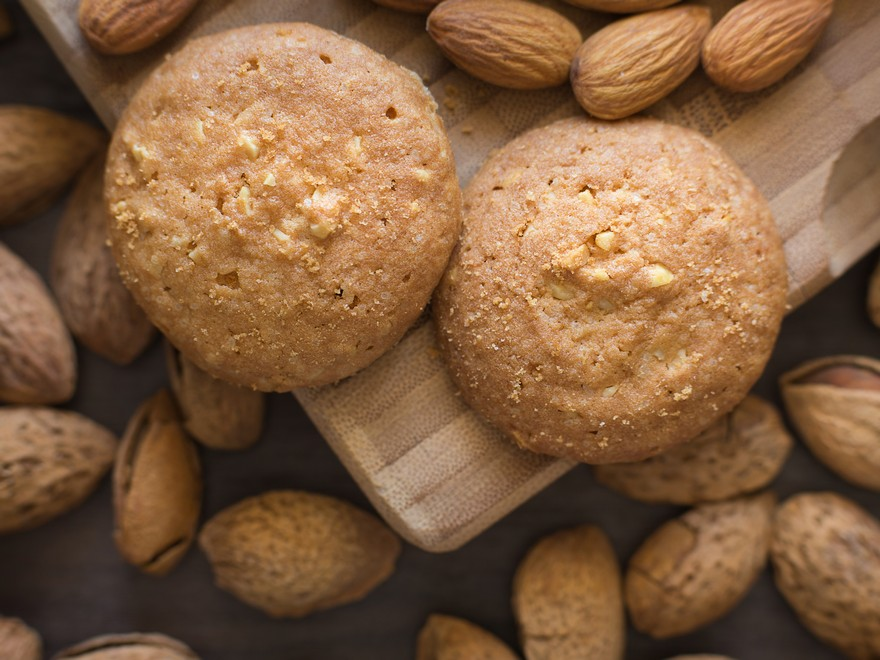 Keva - Recipes - Cookies - Kesar Badam Cookies