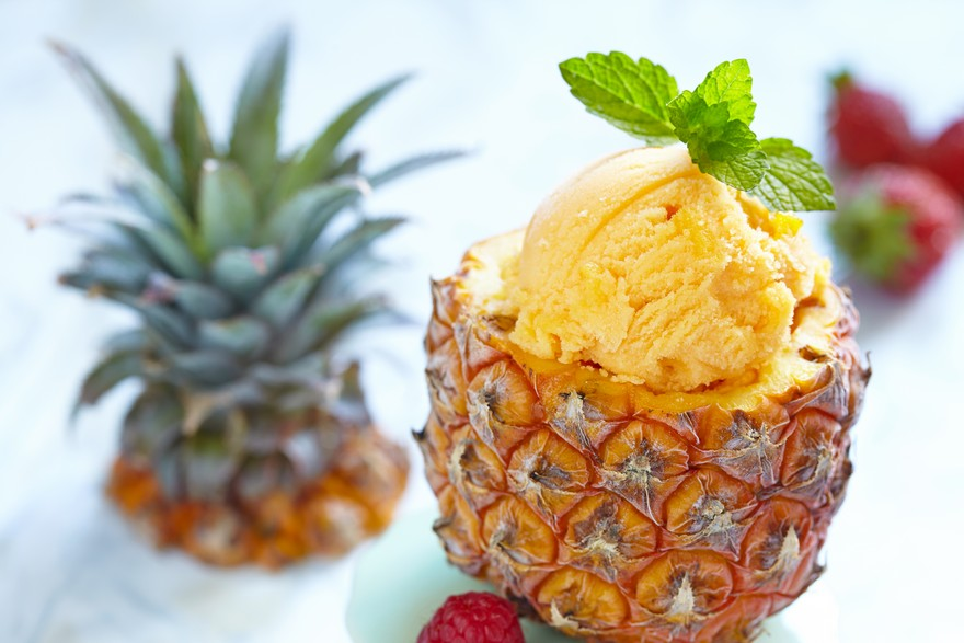 Keva - Recipes - Ice Creams - Pineapple Sorbet