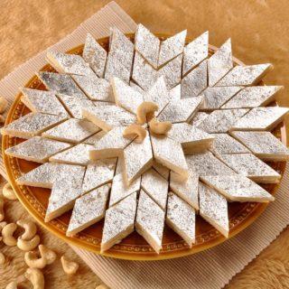 Keva - Recipes - Indian Sweets - Kesar Kaju Katli