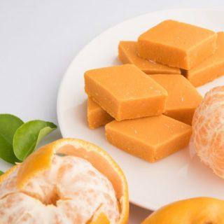Keva - Recipes - Indian Sweets - Orange Barfi