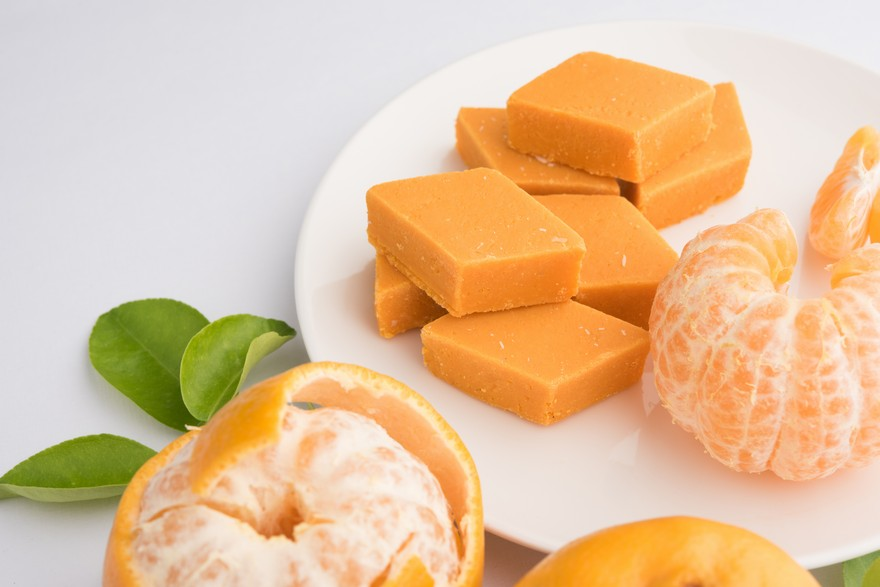 Keva - Recipes - Indian Sweets - Orange Barfi