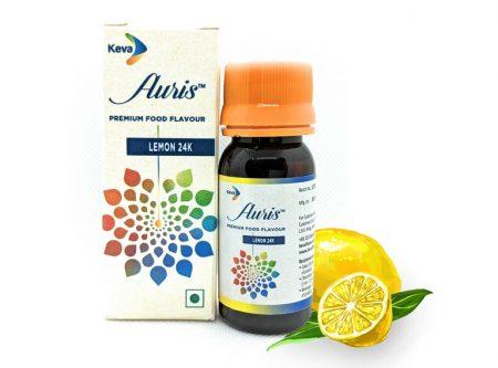 Auris Lemon 24K | Premium Food Flavour | Lemon Essence for Food & Beverages | 30 ML
